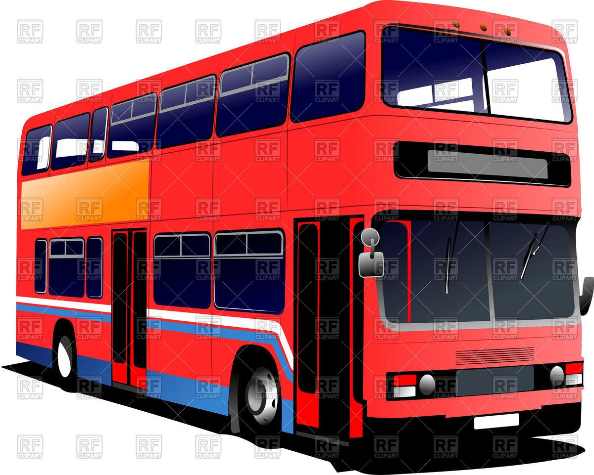 1200x961 Modern London Double Decker Bus Royalty Free Vector Clip Art Image