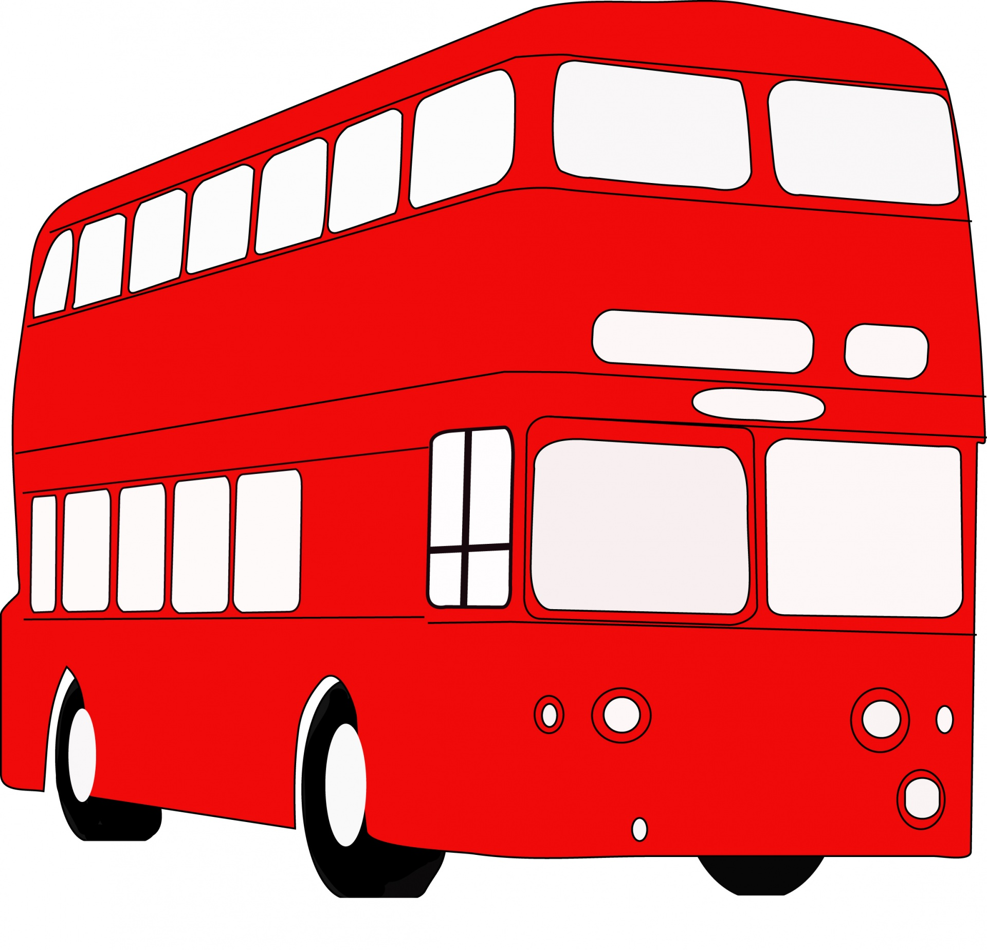 1920x1848 Red Bus Free Stock Photo