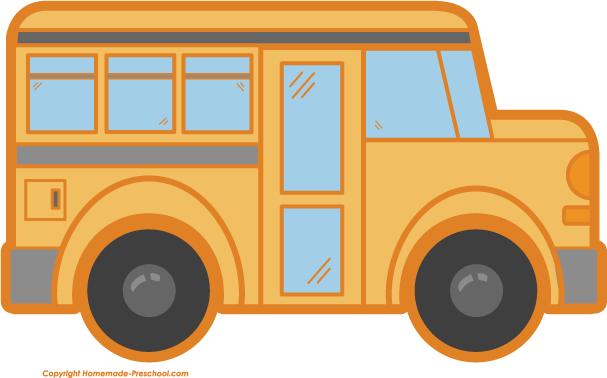 607x378 School Bus Clip Art Black And White Free Clipart 2