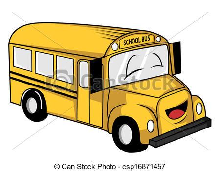 450x350 School Bus Clipart Vector