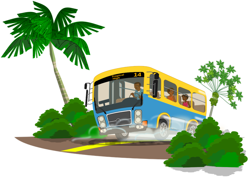800x567 School Bus Clip Art