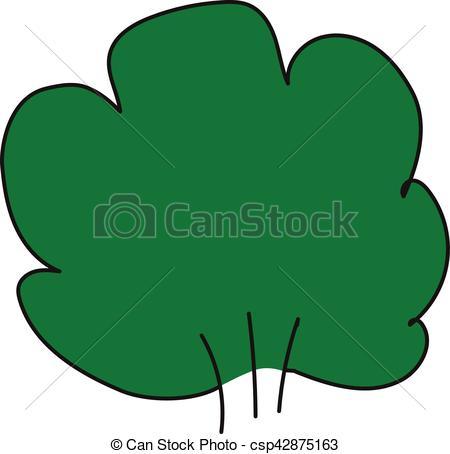 450x454 Bush.eps. Lush Green Bush On A White Background. Clip Art Vector