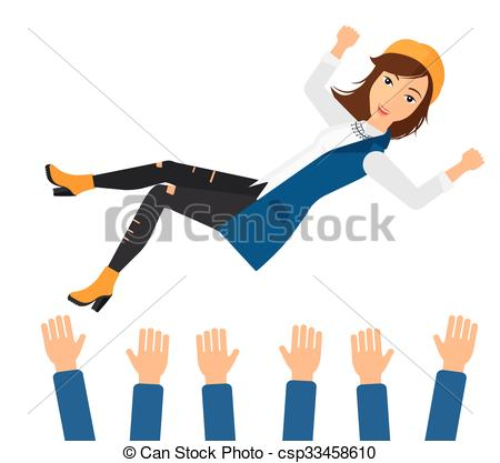 450x417 Successful Business Woman During Celebration. A Business Vector
