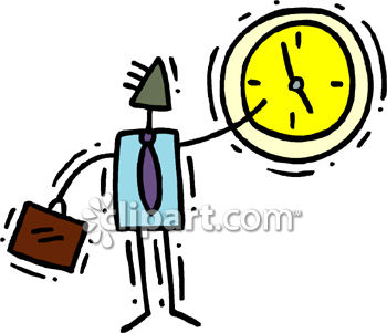 350x301 Busy Businessman Watching The Clock