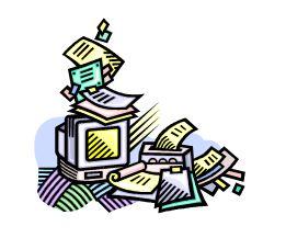 261x227 Busy Desk Clipart