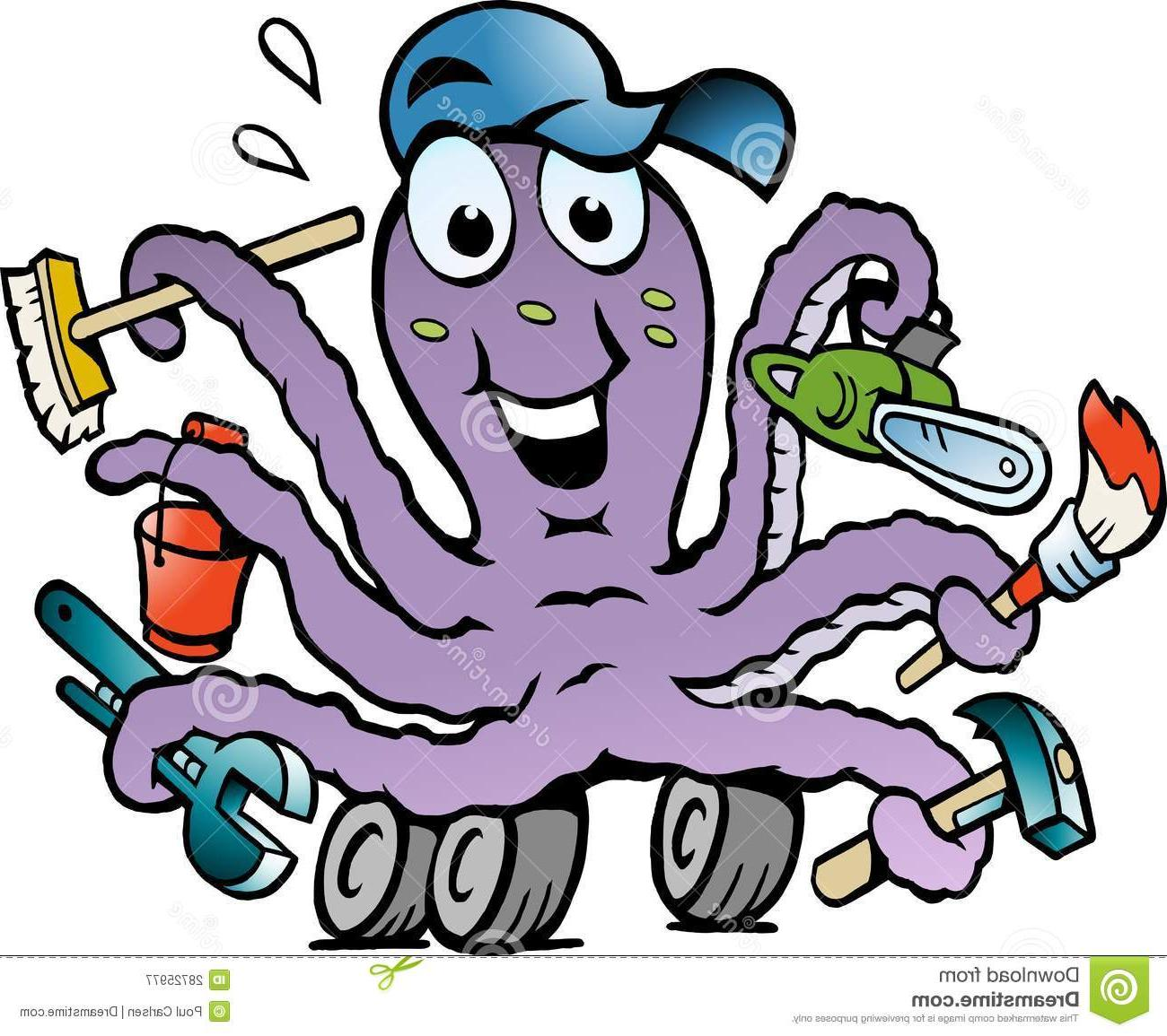 1300x1155 Best Free Octopus Clipart Busy File