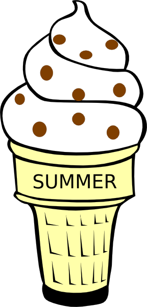 288x600 Butter Pecan Ice Cream Cone Clip Art