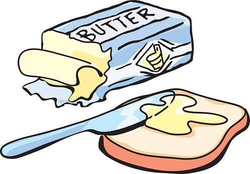 497x347 Butter And Bread Premium Clipart