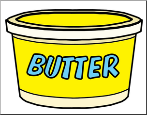304x237 Clip Art Food Containers Butter Tub Color I Abcteach