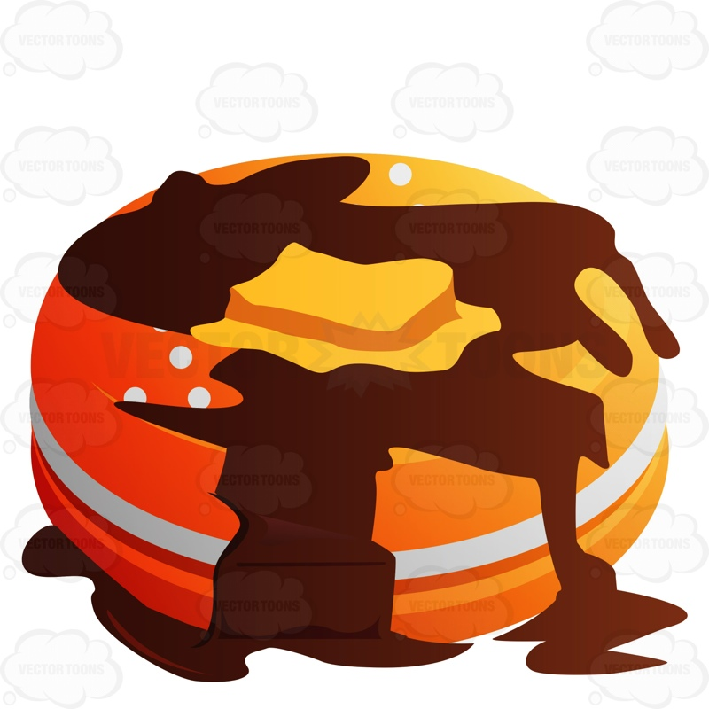 800x800 Pancakes With Butter And Syrup Cartoon Clipart Vector Toons