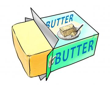 360x283 Collection Of Stick Of Butter Clipart High Quality, Free