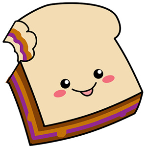 300x300 Sandwich Clipart Peanut Butter And Jelly 3872597