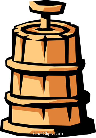 336x480 Butter Churn Royalty Free Vector Clip Art Illustration Indu0743