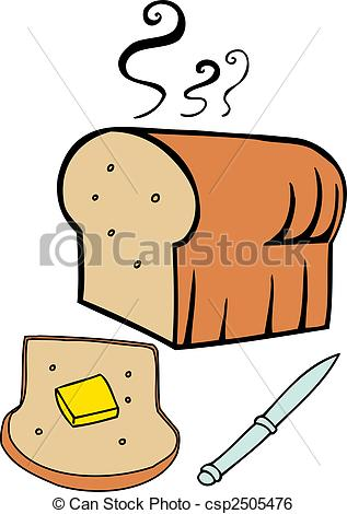 317x470 Bread Butter Isolated On A White Background. Clip Art Vector