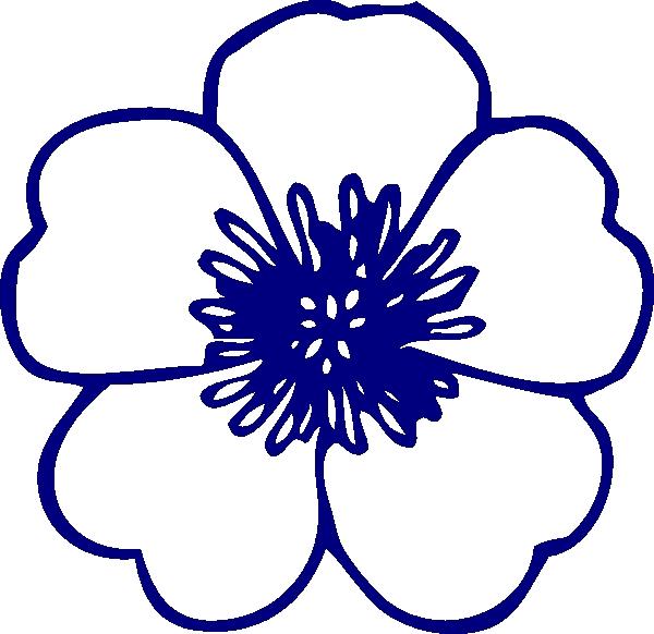 600x582 Navy Flower Clipart Navy Blue Buttercup Flower Clip Art At Clker