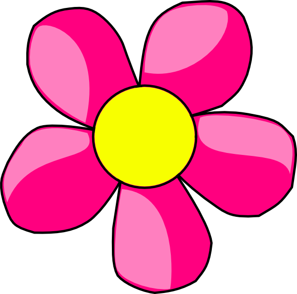 600x594 Hot Pink Flower Png, Svg Clip Art For Web