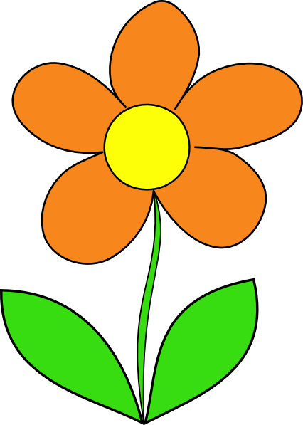 426x597 Orange Flower Png, Svg Clip Art For Web