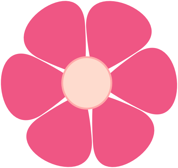 600x564 Pink Flower Png, Svg Clip Art For Web