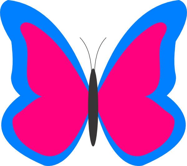 600x533 Butterfly Outline Clipart Clipart Panda