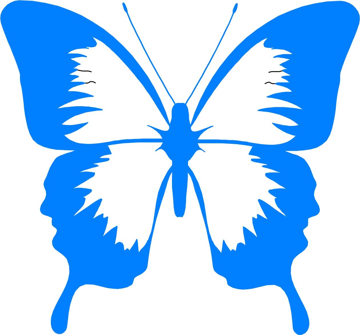 1260x1171 Cartoon Blue Transparent Butterfly Clipart