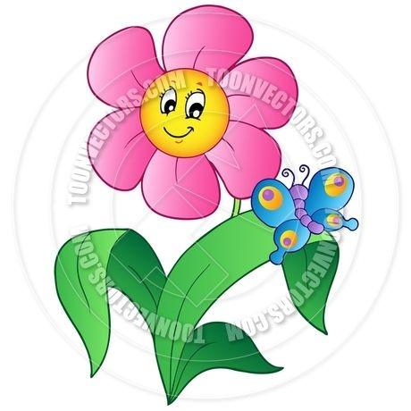 460x460 Clip Art Flowers And Butterflies