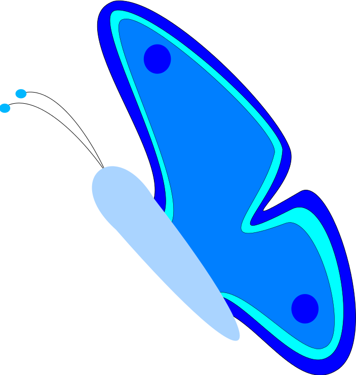 703x741 Clip On Butterflies