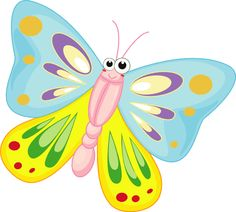 236x212 Funny Butterfly Cartoon Butterfly Banner Cartoon