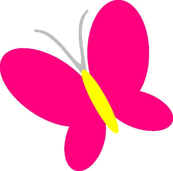 600x592 Pink Butterfly Clip Art