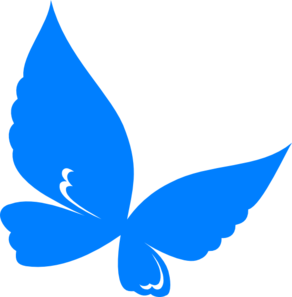 292x297 Blue.butterfly Clip Art