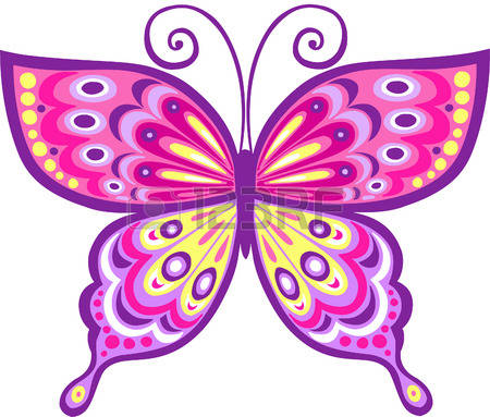 450x383 Pink Butterfly Clipart Free Download Clip Art