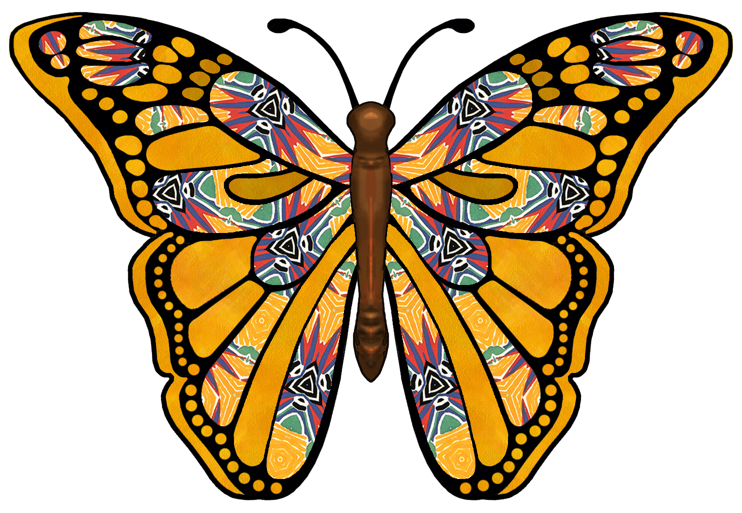 1484x1026 Butterfly Clip Art Black And White
