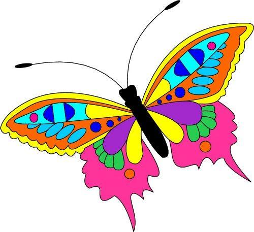 500x457 Clip Art Butterfly