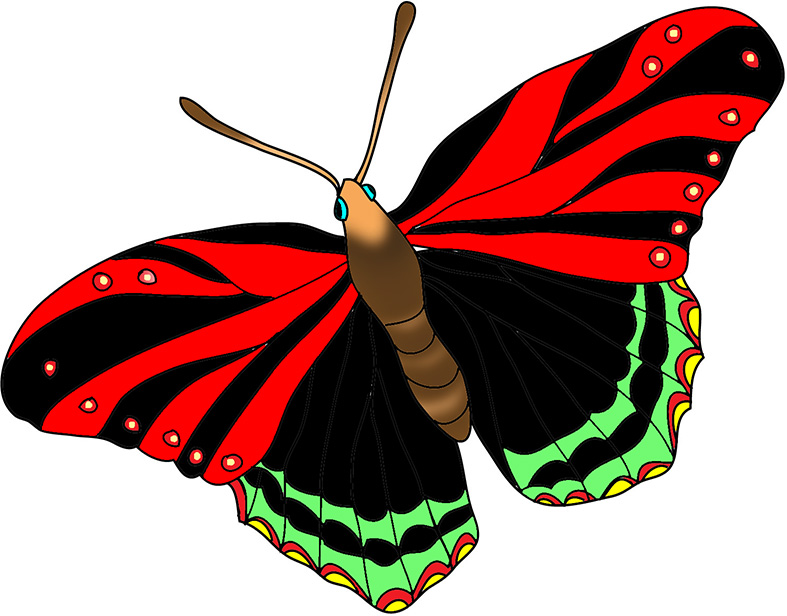 787x616 Red Butterfly Clipart