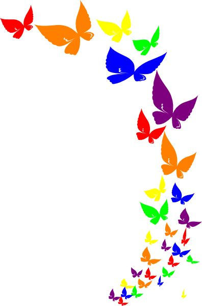 396x599 Free Butterfly Clipart Borders