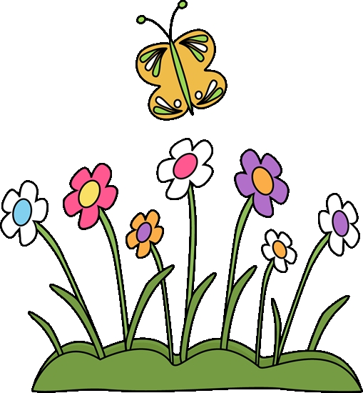 509x550 Clip Art Flowers And Butterflies Butterfly And Flower Clipart