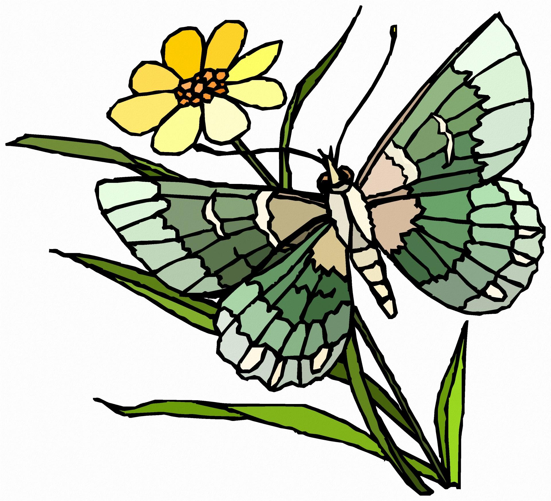 1920x1746 Green Butterfly Clipart 4870052