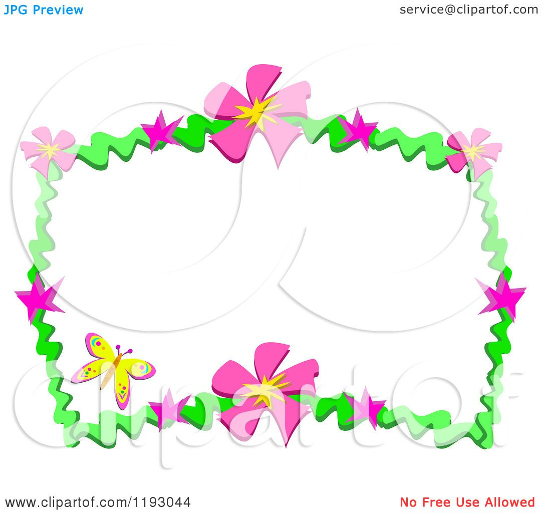 1080x1024 Pink Flower And Butterfly Clipart Amp Pink Flower And Butterfly Clip