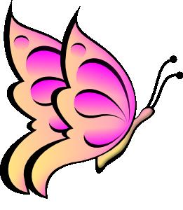 261x300 Purple Butterfly Flower Clip Art