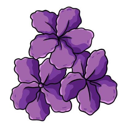 400x400 Purple Flower Clipart Butterfly Clip 3826284