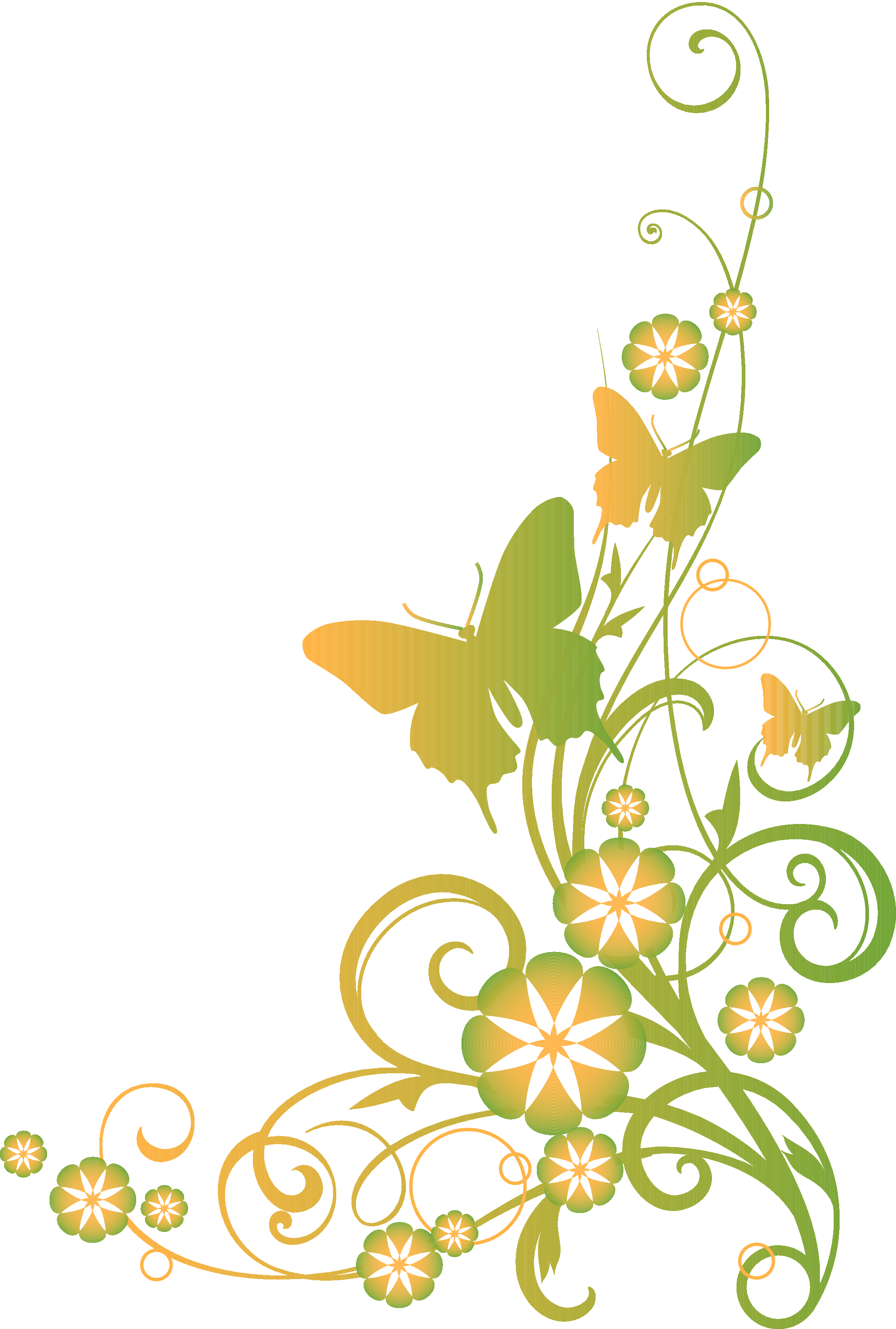2225x3300 Religious Clip Art Vines And Butterflies Christian Clipart