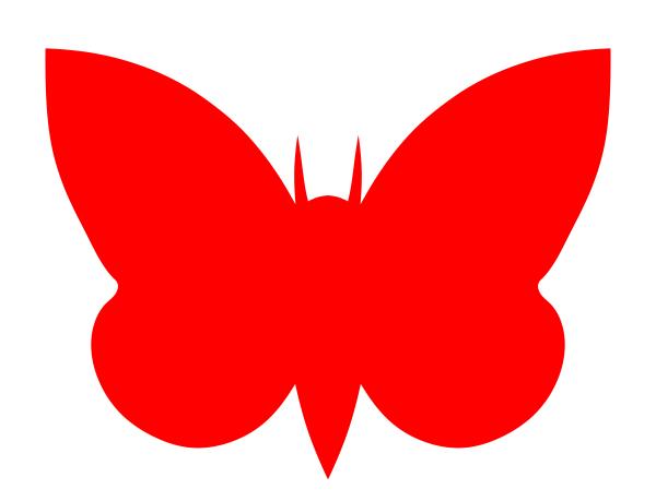 600x459 Moth Red Clip Art Free Vector 4vector