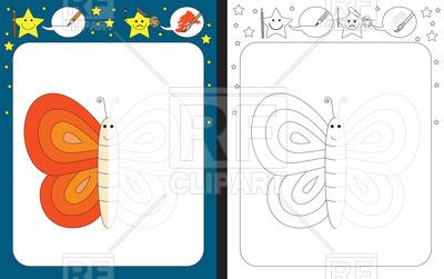 400x251 Preschool Worksheet For Practicing Fine Motor Skills, Outline