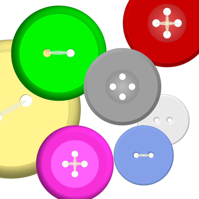 1500x1500 Buttons Clipart Clip Art Instant Digital Download. 120 Digital