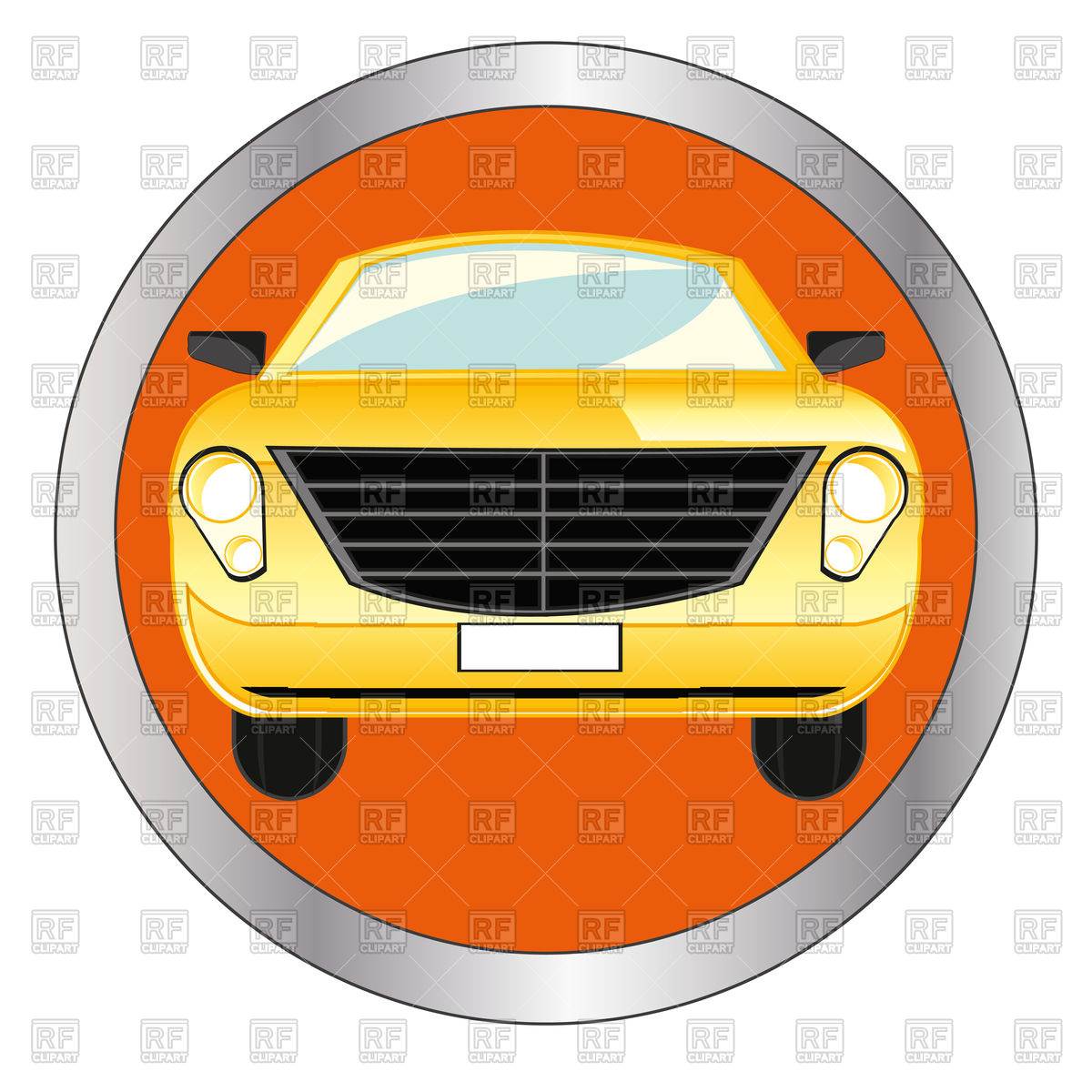 1200x1200 Car Icon On Green Round Glossy Button Free Vector Clip Art Image
