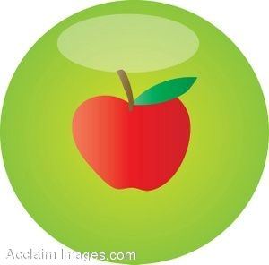 300x296 Clip Art Picture Of An Apple Button