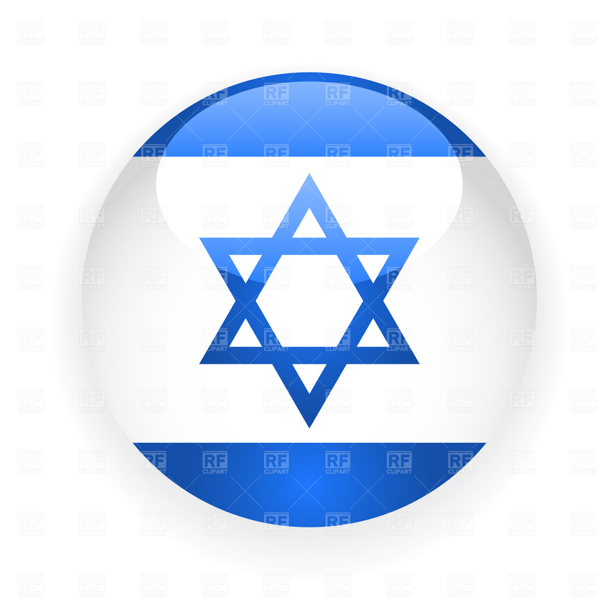 1200x1200 Israel Button Flag Royalty Free Vector Clip Art Image