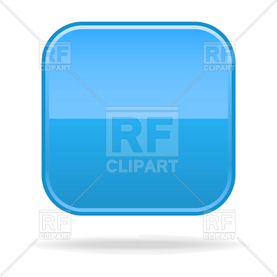 400x400 Blue Blank Square Button Template Royalty Free Vector Clip Art
