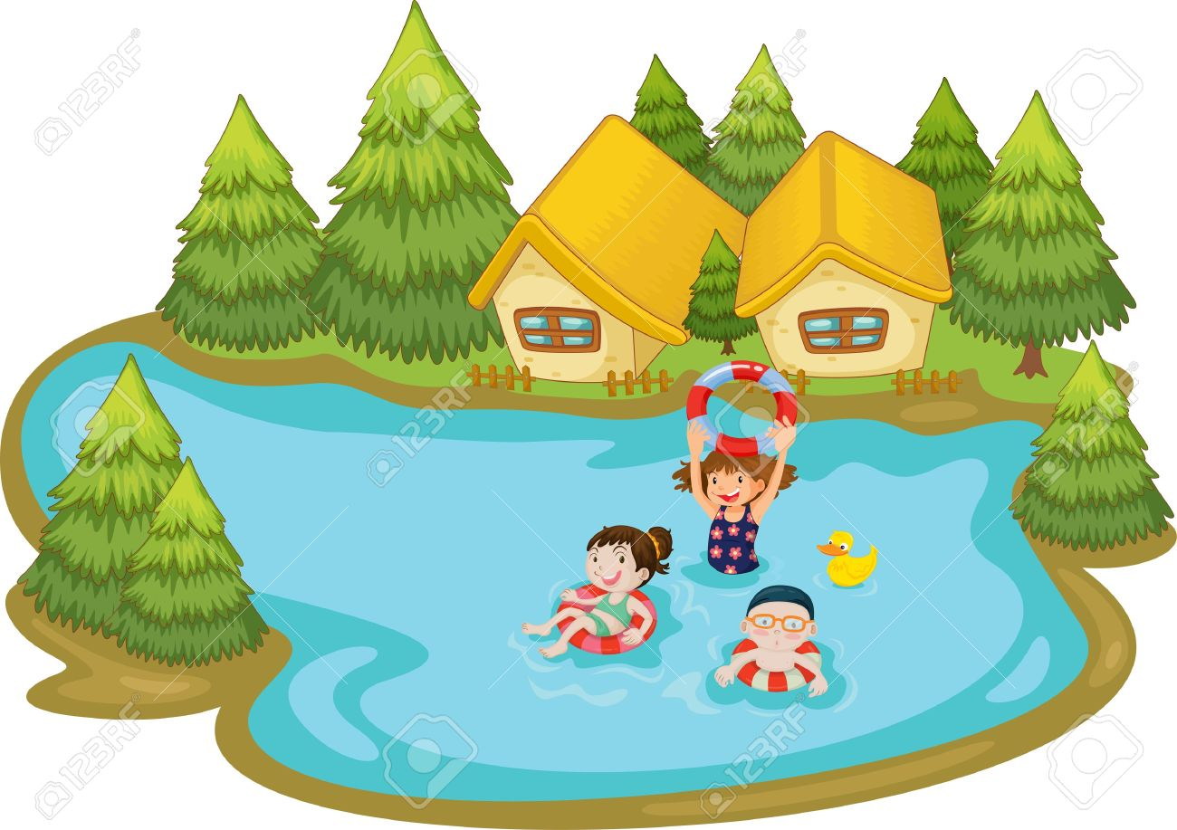 1300x917 Cottage On Lake Clipart Collection