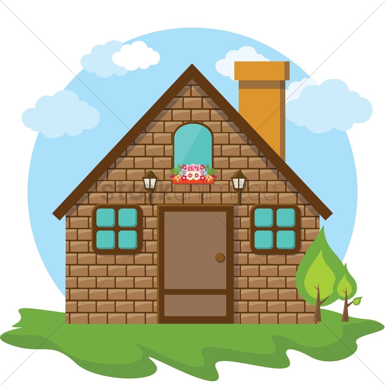 1300x1300 Cute House Illustration Vector Of A Stone 12cd3aa Clipart Yanhe