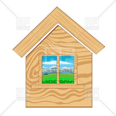 400x400 Wooden Lodge With Window